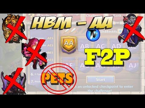 Castle Clash - HBM AA Without PETS, Gf, Sk, Ghoulem, Valentina, Vlad, Santa F2P