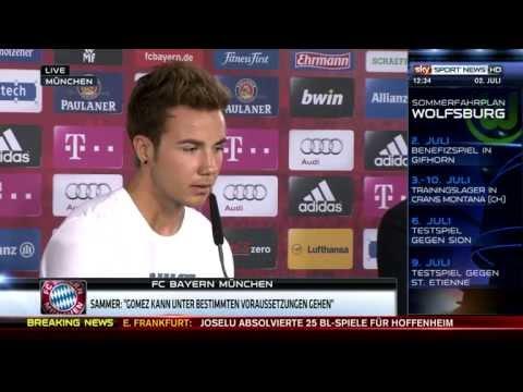 Mario Götze Pressekonferenz volle Länge - Willkommen beim FC Bayern München 02.07.2013