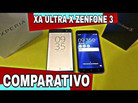 COMPARATIVO ENTRE ZENFONE 3 x XPERIA XA ULTRA - QUAL É O MELHOR CELULAR?