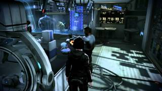 Mass Effect 3 Leviathan DLC: James plays with Husk head