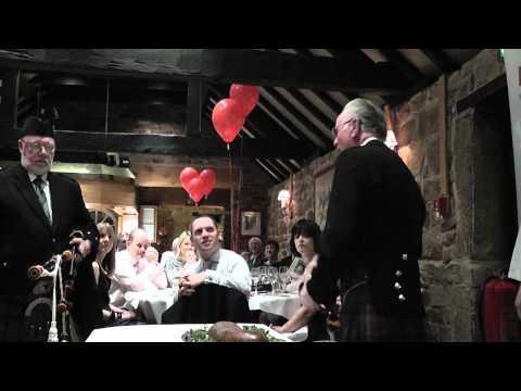 Burns night - Addressing of the haggis HD