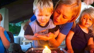 BABY SPITS TRYING TO BLOW OUT BIRTHDAY CANDLES!