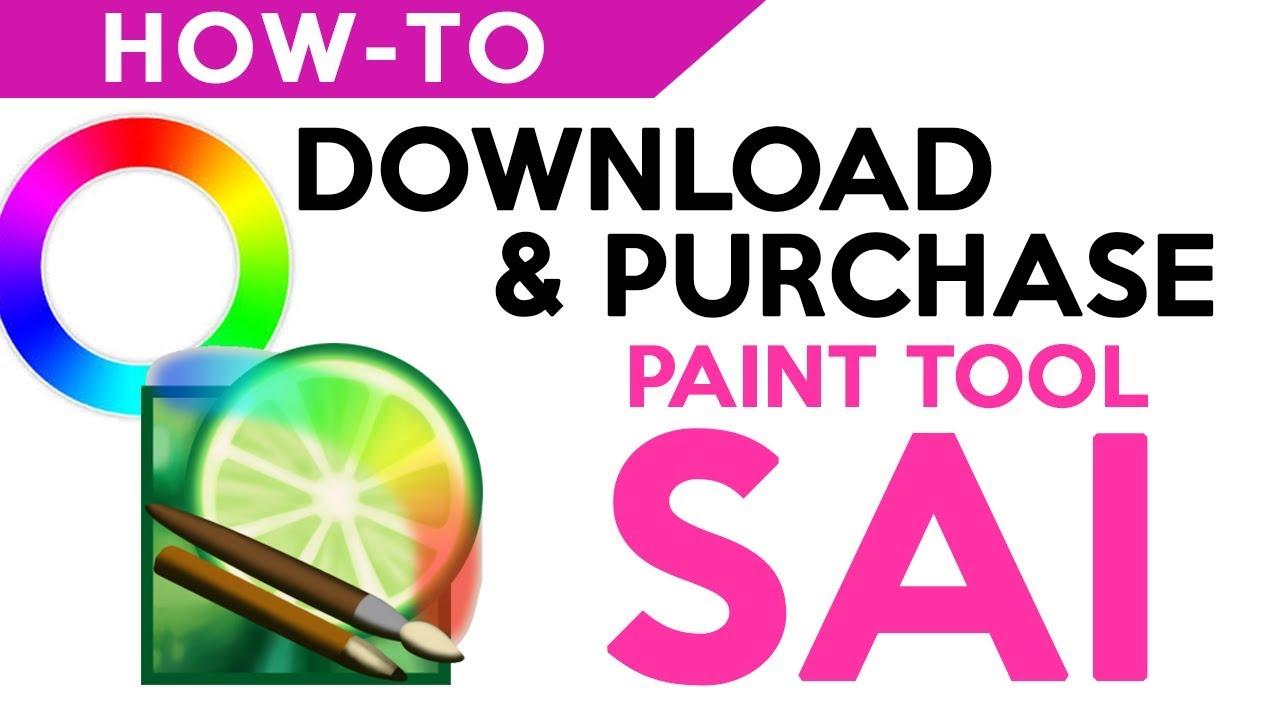 How To Download Purchase Painttool Sai كيفية تنزيل وشراء
