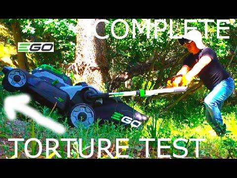 TORTURE TEST:  EGO 56V Lawn Mower- 10% Discount at Home Depot (LONG VERSION)