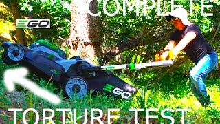 TORTURE TEST:  EGO 56V Lawn Mower- 10% Discount at Home Depot (LONG VERSION)