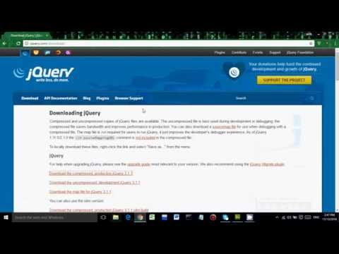 How To Add jQuery In Offline Mode|Manually