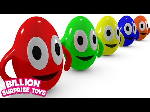 Thumbnail: Funny Surprise Eggs Cartoons video for Children - Learn Colors 3D Animation Songs for Kids