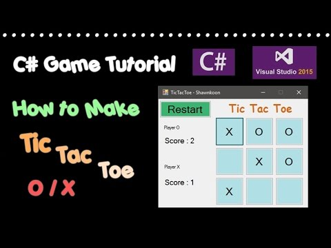 C# Game Tutorial - Tic Tac Toe building UI
