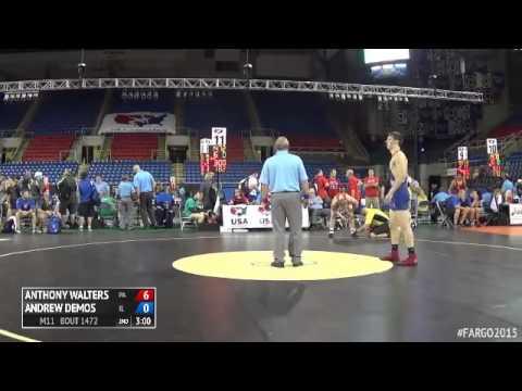 182 Quarterfinal  Andrew Demos Illinois vs. Anthony Walters Pennsylvania