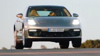 Launch US-spec Porsche Panamera Turbo S E-Hybrid 680 HP Palladium Metallic promotional video