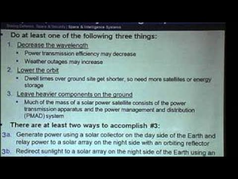 Space Solar Power: Near Term Demonstrations and Applications Seth Potter