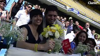 Doce parejas se casaron en La Bombonera