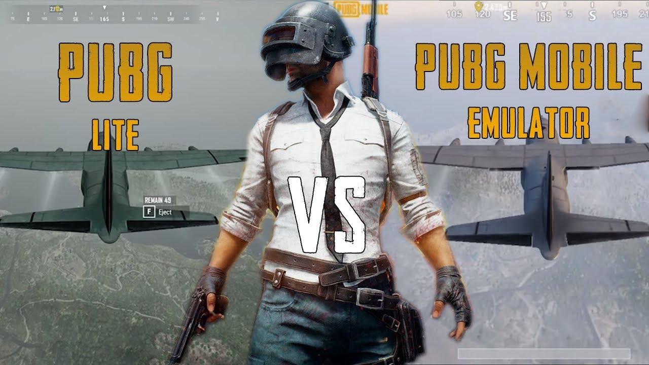 PUBG Lite vs PUBG Mobile emülatör grafik karşılaştırma!