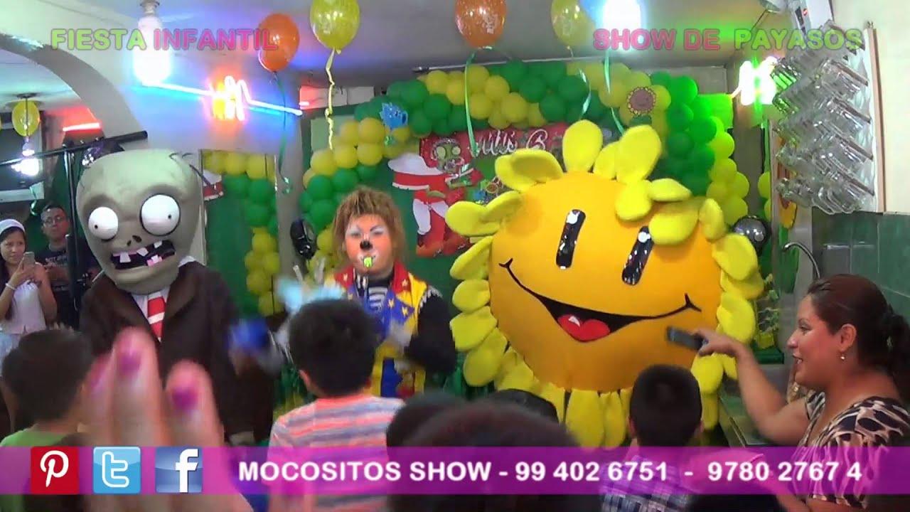 Plantas y zombies show de payasos fiesta infantil - Fiesta de halloween infantil ...