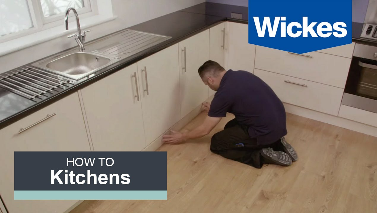 Wickes Kitchen Flooring How To Fit A Kitchen Plinth Pelmet And Cornice With Wickes Youtube
