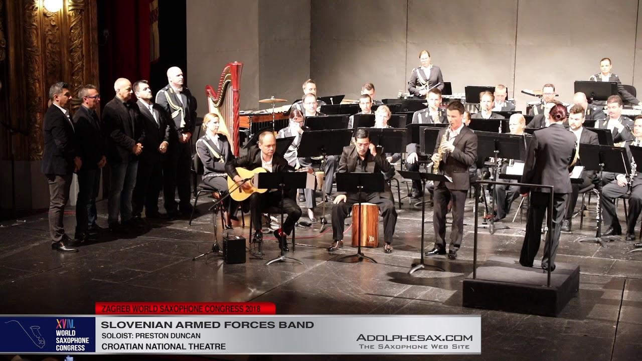 Palindromia Flamenca by Antonio Ruda Peco   Preston Duncan  Slovenian Armed Froces Band   XVIII Worl