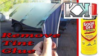 How I remove window tint adhesive
