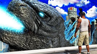 FRANKLIN becomes GODZILLA in GTA 5 (Mods)