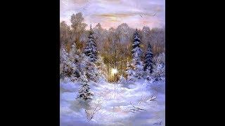 """Картина маслом """"Зимний пейзаж"""""""