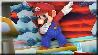 You can't reach this New Super Mario Bros. Wii 2 level without cheating...