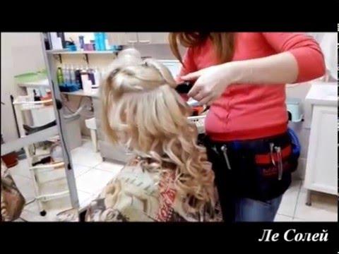 Вечерняя прическа на длинные волосы - голивудске локоны