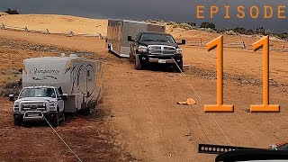EP:11 WINCHING BIG RIGS STUCK in MUD & SAND - TRUCK CAMPER OFFROAD RECOVERY