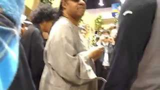 Stevie Wonder & Gregoire Maret jamming at NAMM 2012 -Suzuki Booth