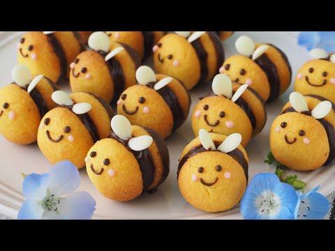 コロコロ可愛い!ミツバチクッキーの作り方♡Honey Bee cookie♡
