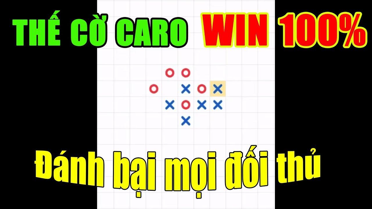 Thế cờ caro win 100% | Đánh bại mọi đối thủ ( Gomoku | How to play gomoku game #1 )