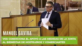 MANUEL GAVIRA advierte a la Junta: VOX jamás apoyará las medidas restrictivas a la hostelería
