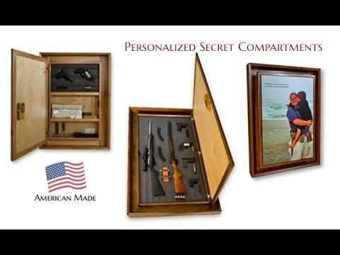Secret Compartment Picture Frame (gun safe) - YouTube