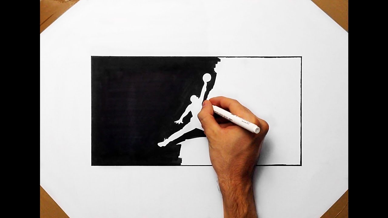 how to draw the air jordan logo