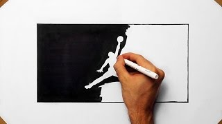 Video How To Draw  the Jordan Logo by Denis - Speed Art Drawing download MP3, 3GP, MP4, WEBM, AVI, FLV Agustus 2018