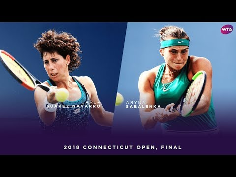 Aryna Sabalenka vs. Carla Suarez Navarro | 2018 Connecticut Open Final | WTA Highlights