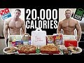 Gambar cover BODYBUILDERS vs 20,000 CALORIE CHALLENGE | Epic Cheat Day