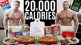BODYBUILDERS vs 20,000 CALORIE CHALLENGE | Epic Cheat Day