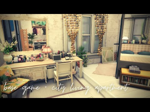 Base Game + City Living Apartment | The Sims 4: Speed Build |