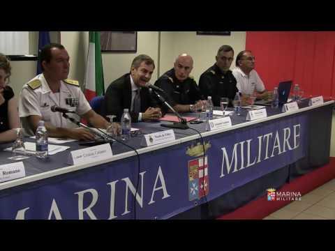 Marina Militare - Recupero del peschereccio la conferenza stampa