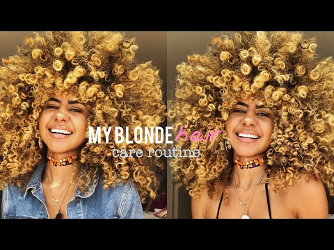 My Blonde Hair Care Routine