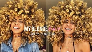 My Blonde Hair Care Routine