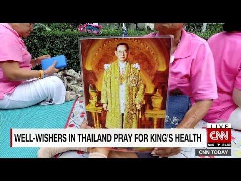 Thai people gather to pray for sick king