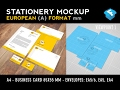 European A Format Stationery Mockup