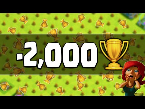 LOSING 0VER 2,000 TROPHIES! - Clash of Clans - What is Happening?
