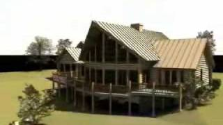 The Long Valley: Log Home Design By Gravitas: Cascade Idaho Log Cabin Plan