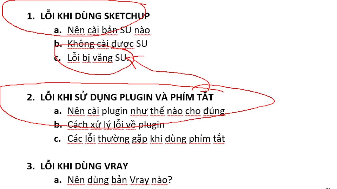 Các vấn đề thường gặp khi sử dụng Sketchup   Vray và cách xử lý