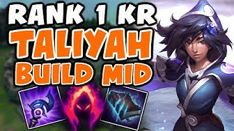 Using Rank 1 KR Taliyah Build Mid | Challenger Taliyah Commentary - League of Legends