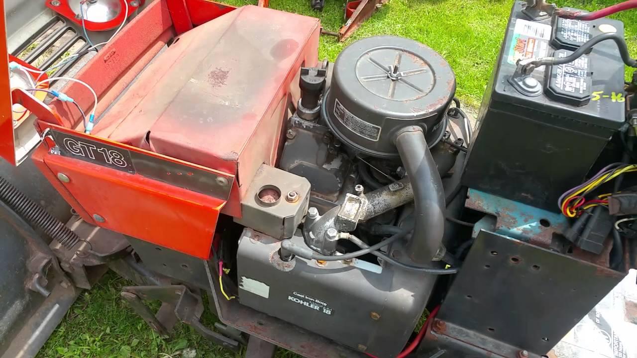 My Ariens Garden Tractor GT18 931033 54 Snow Plow 48 Sno Thro