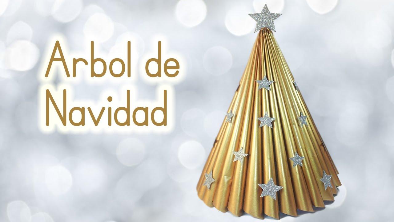 Manualidades para navidad arbol de navidad reciclando una for Como hacer un arbol de navidad original