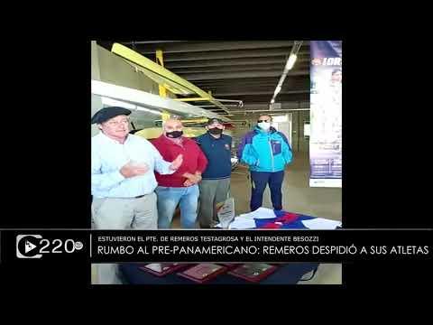 Remeros despidió a sus atletas que participarán en el Pre Panamericano