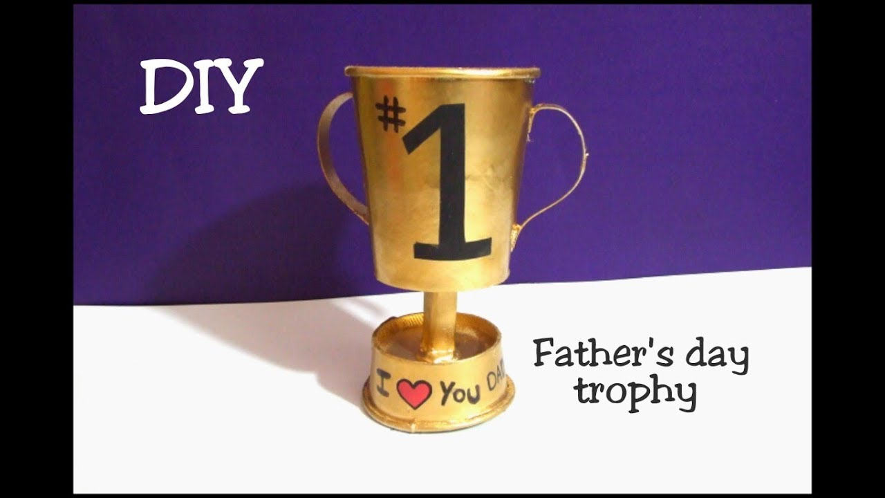 DIY How To Make Fathers Day Paper Cup Trophy Gift Ideas Best Out Of Waste Cups